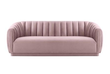 Nadi Blush Velvet Sofa - Main