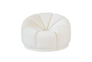 Strata Cream Velvet Lounge Chair