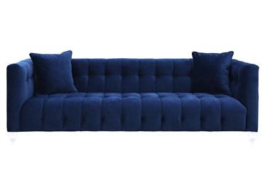 """Tatum Navy 91"""" Velvet Sofa"""