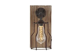 """11"""" Brown Iron Wall Sconce"""