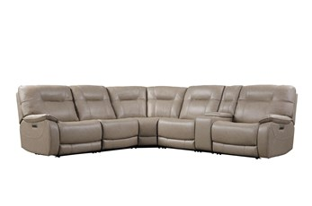Tyson II Parchment 6 Piece Power Reclining Sectional