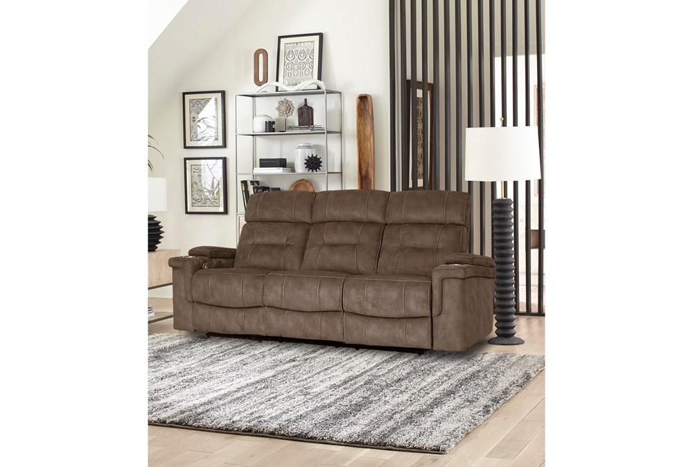 Jagger Brown Power Sofa