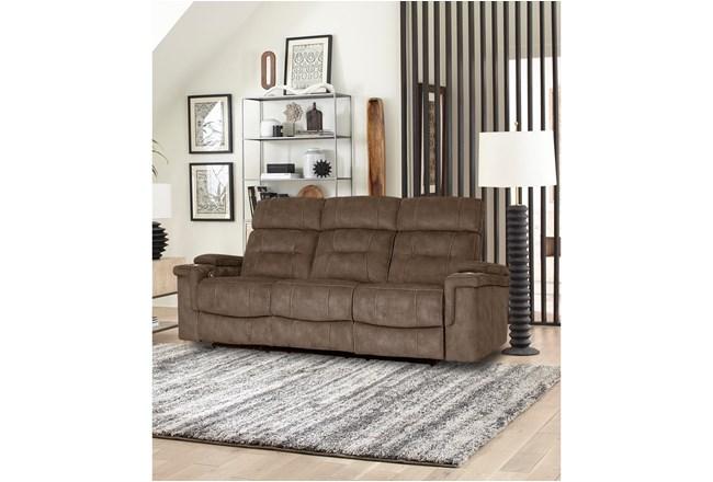 Jagger Brown Power Sofa - 360