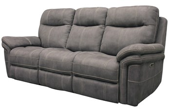 Bateman Light Grey Power Sofa