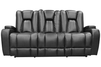 Striker Black Power Sofa