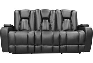 "Striker Black 83"" Power Sofa"