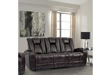 "Striker Brown 83"" Power Sofa"