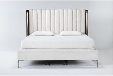 Palladium Eastern King Shelter Upholstered Bed By Drew & Jonathan for Living Spaces