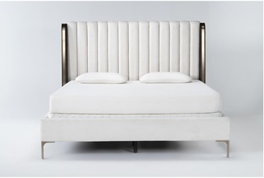 Palladium Queen Shelter Upholstered Bed By Drew & Jonathan for Living Spaces