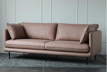 Tan Sofa With Metal Legs