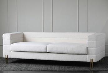 White Sherpa Channel Sofa