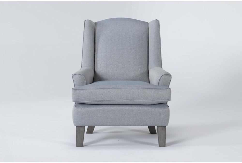 Bailey Sky Flare Arm Wing Club Chair With Greywash Finish