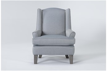 Bailey Sky Flare Arm Wing Club Chair With Greywash Finish