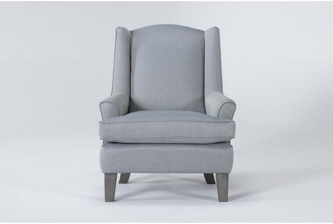 Bailey Sky Flare Arm Wing Club Chair With Greywash Finish - 360