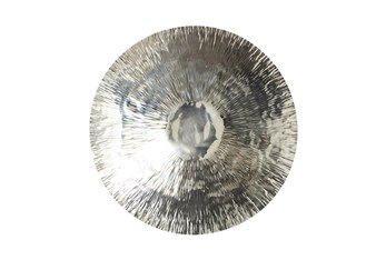 36X36 Inch Silver Metal Round Plate Wall Decor