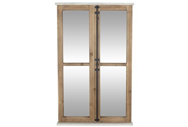 25X40 Inch Rectangular Window Pane Wall Mirror