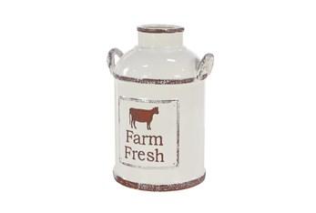 16 Inch White Porcelain Farm Fresh Jug