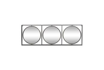 52X18 Inch Metal Circles Wall Mirror