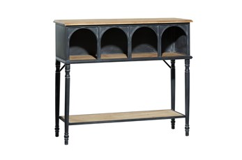 47 Inch Metal + Wood Arched Front Console Table