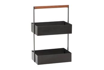 22 Inch Metal 2 Tier Storage Basket
