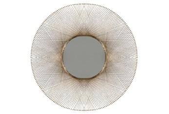 46X46 Inch Gold Wire Round Wall Mirror
