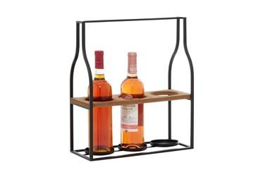 14X16 Metal + Wood Wine Holder