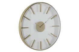 30X30 Inch Gold Metal + Glass Round Wall Clock