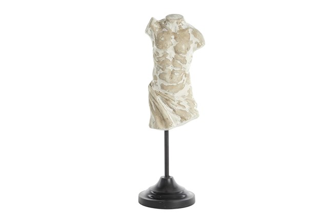17 Inch Torso Sculpture On Stand - 360
