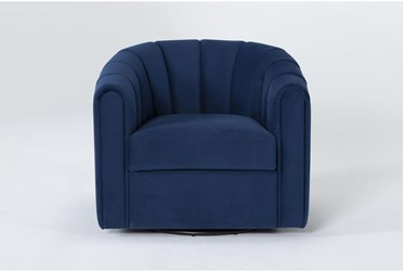 Falcon Channeled Swivel Chair By Drew & Jonathan For Living Spaces