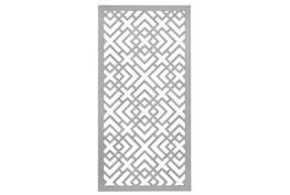 24X48 Inch White Wood Geo Squares Lattice Wall Panel