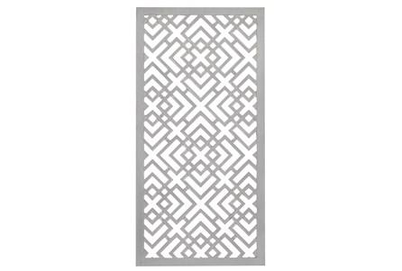 24X48 Inch White Wood Geo Squares Lattice Wall Panel - Main