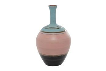 15 Inch Multi Color Ceramic Bottle Vase