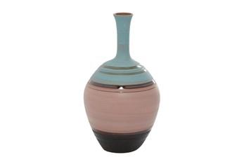 18 Inch Multi Color Ceramic Bottle Vase