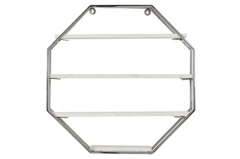 24X24 Inch Silver Iron Wall Shelf