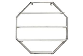 24X24 Inch Silver Iron Wall Shelf