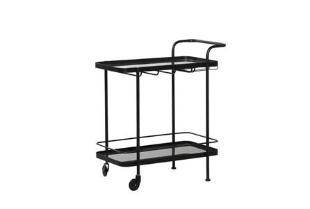Black Metal + Glass Bar Cart - Main