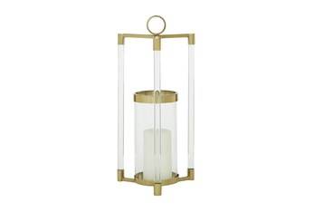 23 Inch Gold Stainless Steel Lantern