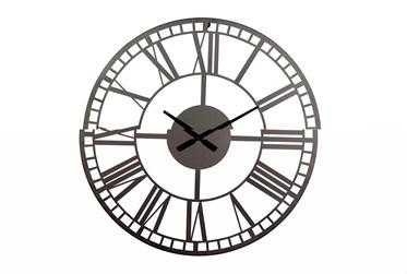 28X28 Inch Black Metal Wall Clock