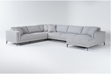 Culver 4 Piece Sectional With Right Arm Facing Chaise By Drew & Jonathan For Living Spaces
