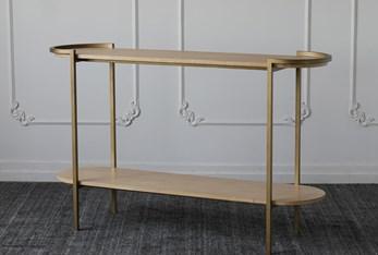 Oak + Iron Console Table