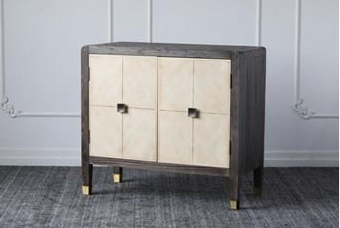 Weathered Brown + Antique Grey 2 Door Cabinet