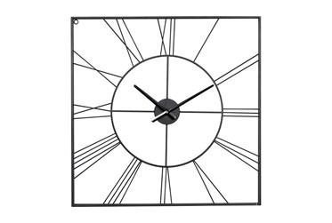 24X24 Inch Black Metal Wall Clock