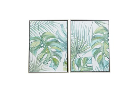 24X32 Inch Green Canvas Wall Decor - Main