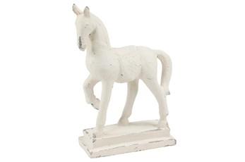 20 Inch White Fiberglass Animal Sculpture