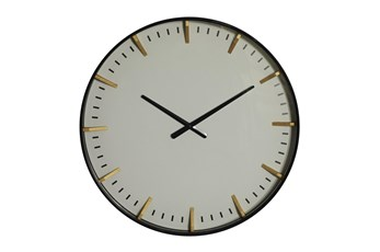20X20 Inch White Glass Wall Clock