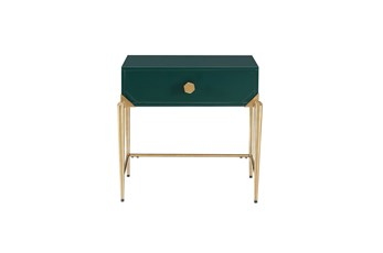 Ida Green Lacquer End Table