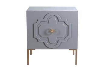 Anastasia Grey Lacquer End Table
