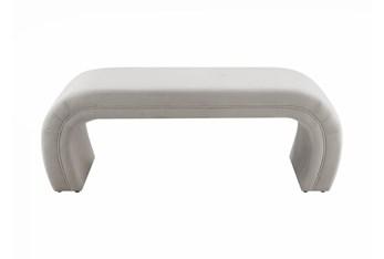 Isla Light Grey Velvet Bench
