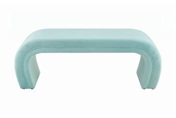 Isla Bright Blue Velvet Bench