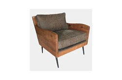 Arden Rustic Brown Leather Accent Chair